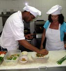 Cooking at Jamaica Jakes Hotel